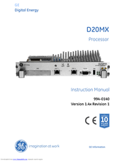 GE D20MX Instruction Manual