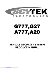 [NRIO_4796]   Scytek electronic A777 Manuals | ManualsLib | Scytek Car Wiring Diagram |  | ManualsLib
