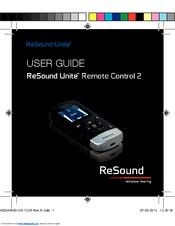 resound remote control 2 user manual pdf download rh manualslib com ReSound Hearing Aid Accessories ReSound Johnson University