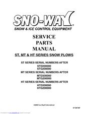 SNO-WAY STD200000 SERVICE & PARTS MANUAL Pdf Download. on