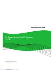 Hp ProCurve 2510G Series Manuals