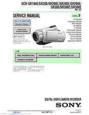 Sony    Handycam    DCRSR190E Manuals