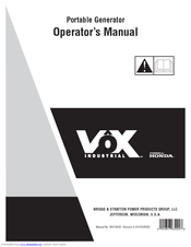 [DIAGRAM_38IU]  BRIGGS & STRATTON VXG6500 OPERATOR'S MANUAL Pdf Download | ManualsLib | Vox Generator Vxg6500 Wiring Diagram |  | ManualsLib