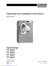 Miele PT 8407 Operating And Installation Instructions