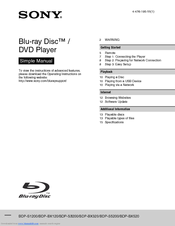 sony bdp bx520 manuals rh manualslib com Sony BDP BX58 Review CNET Sony Blu-ray Player Netflix