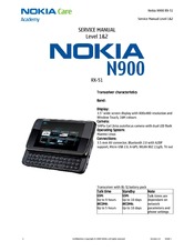 nokia n900 rx 51 manuals rh manualslib com Nokia C7 nokia rx-51/n900 service manual level 3-4