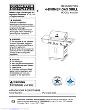master forge 1010037 manuals rh manualslib com Master Forge Grill Manual Mfa350bnp Lowe's Master Forge Grill Parts