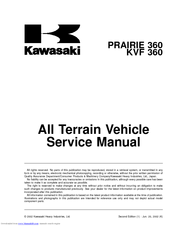 kawasaki prairie 360 manuals rh manualslib com 2006 kawasaki prairie 700 owners manual Kawasaki 700 ATV