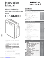 Hitachi EP-A6000 Instruction Manual