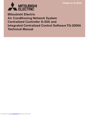 Mitsubishi Electric Central Controller G-50A Technical Manual