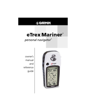 Garmin eTrex Mariner Manuals on