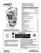 lennox g61mpv 36b 045 installation instructions manual pdf download