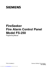 Siemens FireSeeker FS-250 Programming Manual