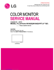 lg flatron w1942s service manual pdf download rh manualslib com lg flatron w2261vp manual lg flatron w2252tq manual
