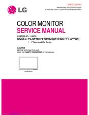 Lg Flatron W1942s Manuals Manualslib