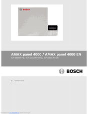 Bosch ICP-AMAX4-P1 Installation Manual