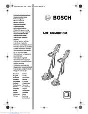 BOSCH ART COMBITRIM ORIGINAL INSTRUCTIONS MANUAL Pdf Download