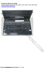 Toshiba Satellite C650D Series Removal Manual