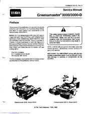 TORO GREENMASTER 3000 SERVICE MANUAL Pdf Download