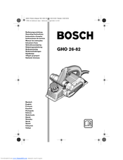 Bosch GHO 26-82 Operating Instructions Manual