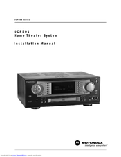 Motorola DCP501 - DVD Player / AV Receiver Installation Manual