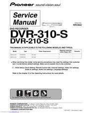 pioneer dvr 310 s service manual pdf download rh manualslib com H 264 DVR System Manuals H 264 DVR System Manuals