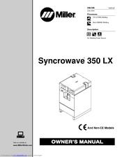 miller syncrowave 350 lx manuals rh manualslib com Miller Syncrowave 300 Owner's Manual Miller 350 LX Syncrowave PDF