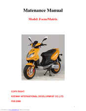 keeway focus maintenance manual pdf download rh manualslib com keeway matrix 50 repair manual keeway hurricane 50cc service manual free download