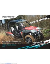 CFMOTO ZFORCE 800-EX OWNER'S MANUAL Pdf Download