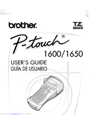 Brother P-touch 1600 User Manual