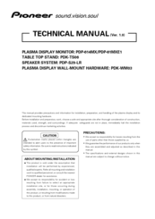 Pioneer PDP-61MXE1 Technical Manual