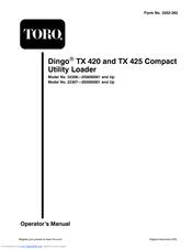 TORO TX 420 OPERATOR'S MANUAL Pdf Download.  Wiring Diagram Toro Dingo on wiring diagram cub cadet, wiring diagram thomas, wiring diagram harley, wiring diagram kenworth, wiring diagram ford, wiring diagram freightliner,