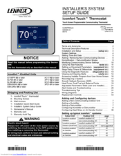 Lennox icomfort Touch Manuals on