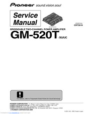 Pioneer GM-520TXU Service Manual