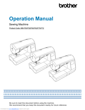 Brother 888-F50 Operation Manual