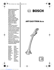 Bosch Art 23 Easytrim Accu Original Instructions Manual