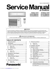 panasonic cs s24nkua manuals rh manualslib com Speedaire Air Compressor Manual Air Compressor Repair Manuals