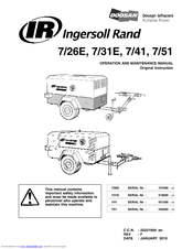 ingersoll rand 7 51 manuals ingersoll rand 7 51 operation and maintenance manual