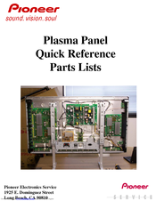 Pioneer PRP1410HD Quick Reference Parts Lists
