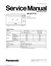 Panasonic microwave repair manual.