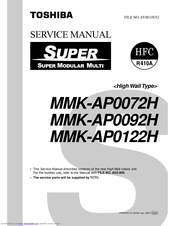 Toshiba MMK-AP0072H Service Manual