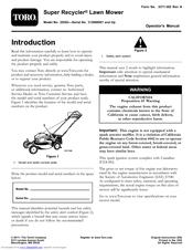 toro super recycler 20383 operator s manual pdf download rh manualslib com toro sr4 super recycler 190cc manual toro super recycler 20037 manual