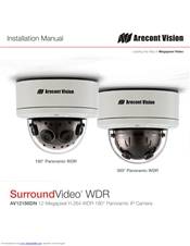 arecont vision av12186dn surroundvideo manuals rh manualslib com Arecont 360 Degree Camera Dome Security Camera
