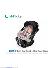 orbit baby g3 manual pdf download rh manualslib com Car Seat Nuna Pipa Jett Car Seat Nuna Pipa Jett