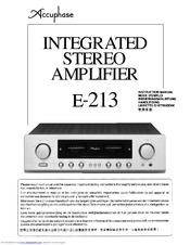 accuphase e 213 manuals rh manualslib com Accuphase CD Player Review Accuphase CD Player Review