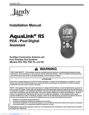 JANDY AQUALINK RS PDA INSTALLATION MANUAL Pdf Download. on