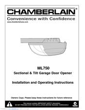 Chamberlain Motorlift Ml750 Manuals
