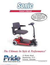 pride mobility sonic manuals rh manualslib com Pride Sonic Factory Service Manual Sonic Scooter SC50
