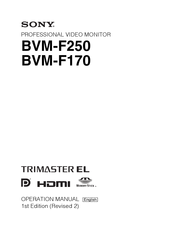 Sony BVM-F170 Operation Manual