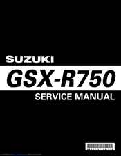 Suzuki 2007 gsxr 600 Service Manual